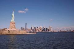 Statua Wolności jest symbolem Ameryka wolne od ludzi Symbol wolność Zdjęcie Royalty Free