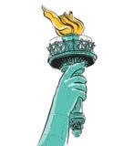 Statua Wolności trzyma pochodnię Fotografia Royalty Free