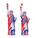 Statua Wolności, wolność USA ikona lub symbol również zwrócić corel ilustracji wektora Zdjęcie Royalty Free
