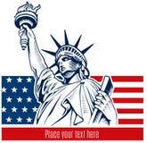 Statua Wolności, NYC, usa symbol, usa flaga Zdjęcie Stock