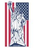 Statua Wolności wektoru ilustracja Ilustracja Wektor