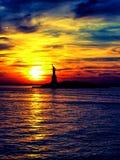 Statua Wolności zmierzch zdjęcie royalty free