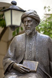 Statua Żydowski uczony Mojżesz Maimonides, rabin Mosheh Ben Maimon, cordoba, Andalusia zdjęcia stock