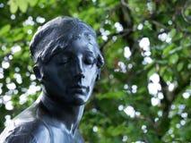 Statua z zamkniętymi oczami obraz stock
