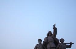 Statuarisch vom Tian'an Quadrat Lizenzfreie Stockfotografie