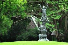 Statuary. A statuary boys in the park Stock Photos