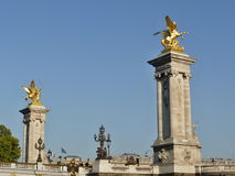 Statuary - on the bridge. Statuary. Statues shot in various locations of historical importance and in Paris and surroundings. Statues are made of different Royalty Free Stock Photography