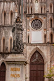 Statuary of church the St. Joseph's Cathedral in  Vietnam. Royalty Free Stock Photography