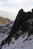 Statuary climber. Picture taken in retezat National Park Stock Photos