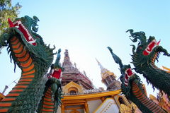Statuary. Dragon sculpture in Thailand temple Stock Photos
