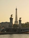 Statuary - and the Eiffel Tower Royalty Free Stock Image