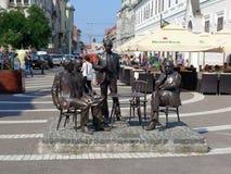 The statuary group Holnaposok from Oradea. Romania Stock Image