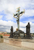 Statuary of the Holy Crucifix and Calvary. Stock Photography