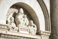 Statuary Pisa. Statuary on the Leaning Tower in Pisa, Italy, Tuscany Stock Images