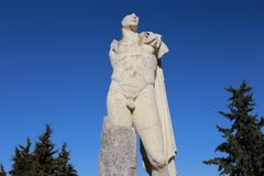 Statuary of the Roman city of Italica. In the town of Santiponce, Seville, Andalusia, southern Spain Stock Image