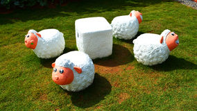 Statuary sheep. In the garden Stock Image