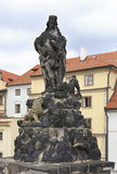 Statuary of St. Vitus. Charles Bridge in Prague. Stock Photo