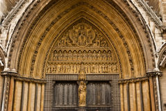Statuary in westminster abbey. Christ statuary in Westminster Abbey Stock Images