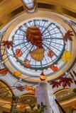 Statuaryczny i skylight w recepcyjnej sali Palazzo Las Vegas obraz stock