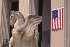 Statue à ailes de cheval Images libres de droits