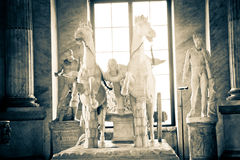 Statue à l'intérieur de musée de Ville du Vatican Image stock