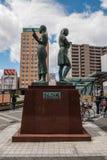 Statue à la station de Hirosaki Photo stock