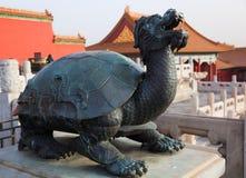 Statue à la ville interdite. Pékin. La Chine. Images libres de droits