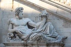 Statue à Rome Images libres de droits
