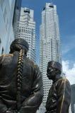 Statue à Singapour Images libres de droits