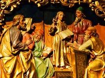 statue, église, sculpture, religion, cathédrale, saint, art, architecture, monument, Mary, le Christ, l'Europe, foi, un dieu, Sui photographie stock