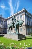 Statue équestre à l'empereur Alexandre III, St Petersburg Photographie stock libre de droits