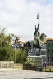 Statue équestre à Porto photos stock