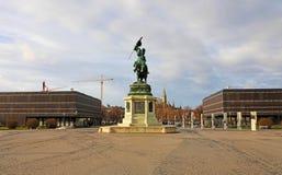 Statue équestre d'archiduc Charles de l'Autriche 1860 sur Heldenplatz, Vienne, Autriche photo stock