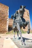 Statue équestre d'Ibn Qasi, gouverneur du royaume de taifa de photo libre de droits