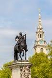 Statue équestre de Charles I de l'Angleterre Photos libres de droits