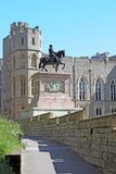 Statue équestre de Charles II chez Windsor Castle images libres de droits