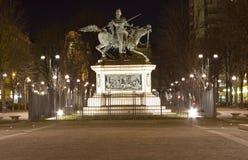 Statue équestre de Ferdinando di Savoia à Turin Italie Photo libre de droits