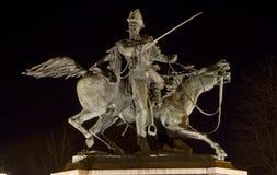 Statue équestre de Ferdinando di Savoia à Turin Italie Photos libres de droits