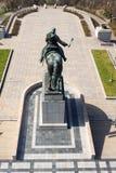 Statue équestre de Jan Zizka, Vitkov commémoratif national, Prague, République Tchèque images libres de droits