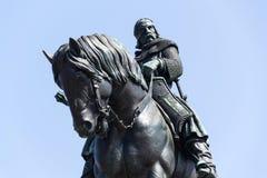 Statue équestre de Jan Zizka, Vitkov commémoratif national, Prague, République Tchèque photographie stock libre de droits