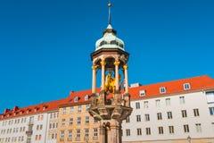 Statue équestre de Magdeburger Reiter, roi photo libre de droits