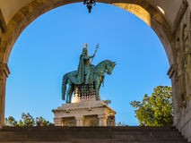 Statue équestre de saint Ishtvan Images stock