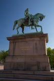 Statue équestre du Roi Carl Johan dans la place de palais à Oslo, Norvège photographie stock