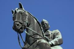 Statue équestre du Roi Christian X à Copenhague image stock