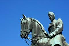Statue équestre du Roi Christian X à Copenhague photographie stock libre de droits