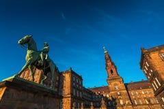 Statue équestre du Roi Christian 9ème Copenhague Danemark Image libre de droits