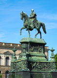 Statue équestre du Roi John de la Saxe Photos libres de droits