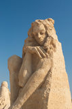Statue. For a second time the Municipality of Burgas organizes the one of its kind Sand Sculptures Festival in Bulgaria. The place of the exhibition is the same royalty free stock photography