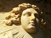 Statue. Young french king Louis XIV's face Royalty Free Stock Photos