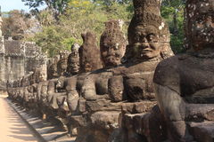 Statue. Infront of bayon temple Royalty Free Stock Photos